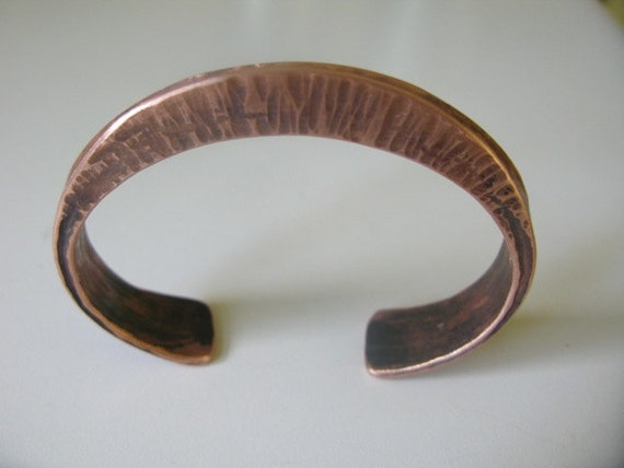 Forged bracelet copper cuff bangle healing properties of