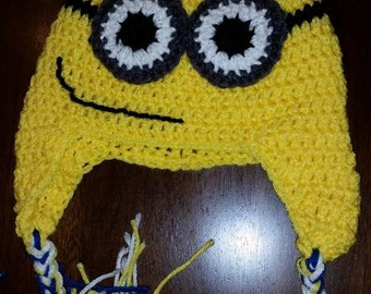 Yellow and Blue eyed Crochet Hat