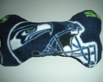 Hand Made Seahawk  Dog Squeaker Toy