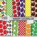 HUNGRY CATERPILLAR Digital Paper: Caterpillar Pattern Prints, Hungry Caterpillar Download, Patterns Backgrounds Scrapbook