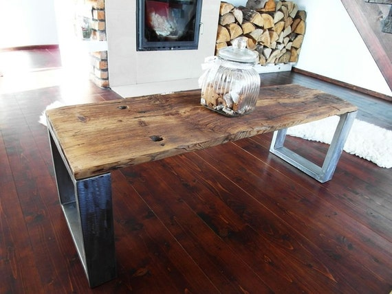 Tavolo da banco industriali a mano rustico legno recuperato - Tavoli rustici fai da te ...