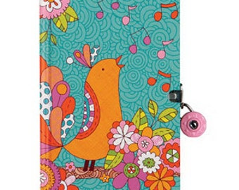 "Songbird ""Authentic Self"" Diary with Lock & Key"