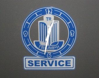 """Triumph Emblem Service 16"""" Wall Clock"""