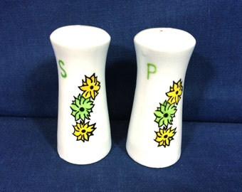 Vintage & Rare Porcelain Salt And Pepper Shaker Set, Floral Design Made In Japan