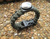 Original Paracord Survival Bracelet with Compass and Whistle Buckle for 8 1/2 inch Wrist