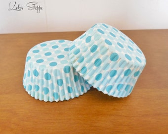 SALE!! Blue Dots Cupcake Liners 25-50
