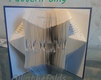 Book folding pattern BOOM! comic style DIY