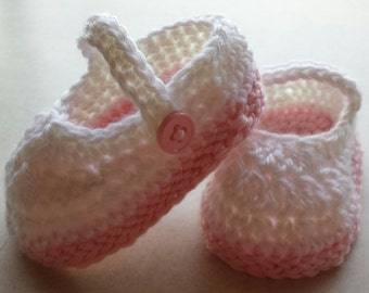 Crochet Newborn Mary Janes Baby Shoes Booties