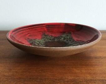 Mid Century Modern German Fat Lava Art Pottery Bowl