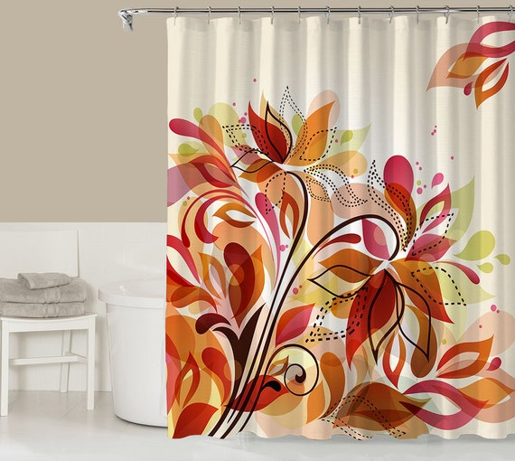 items similar to floral shower curtain contemporary