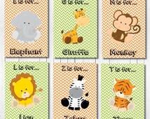 Baby Boy Nursery, Jungle Nursery Prints, Safari Animals Print, Safari Nursery, Nursery Decor, Nursery Lion Print