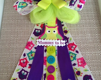Owl Baby Shower Corsage Pin - Mommy to be *SALE*