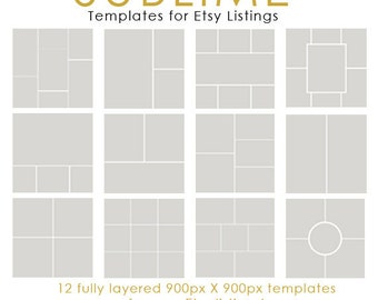 Instagram Collage / Photoshop Collage / Etsy listing Collage / Product Template / Product Display / 900px X 900px Each / INSTANT DOWNLOAD