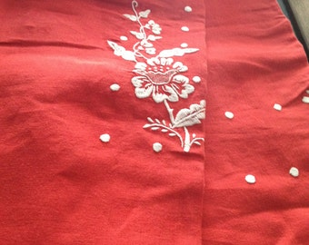 linen tablecloth embroidered by hand