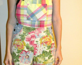 80s Looking Floral Overalls from Carol Anderson Collection, Size M