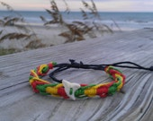 Rasta Shark Tooth Bracelet