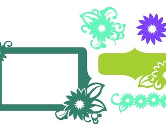 Flowers Vector Art SVG Files