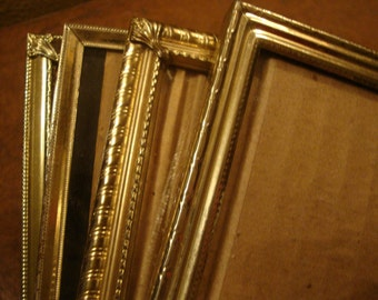 lovely vintage gold metal frames set of five 8x10 gold frames vintage home decor rustic wedding decor table numbers gallery wall