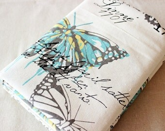 New style Vintage butterfly Fabric, zakka Cotton Linen Fabric,Clothes/Curtain fabric/ / tablecloth /bag- 1/2 yard