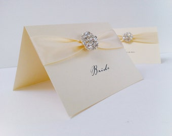 Cluster Crystal Place Cards, Name Cards, Place Setting, Wedding Place cards, Luxury Place Cards, Place Names, Party Place Cards