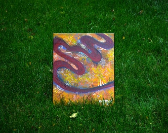 Path #1, Abstract Acrylic Painting on Canvas, 16 in x 20 in, Unique