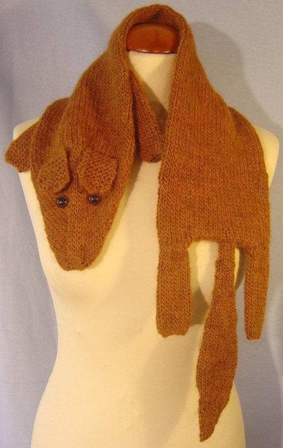 Warm soft brown fox scarf