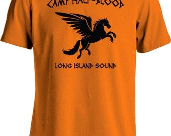 Camp Half Blood T Shirt Percy Jackson Movie Shirt Long Island Sound Greek Demi God Youth Men's Tee MD-144