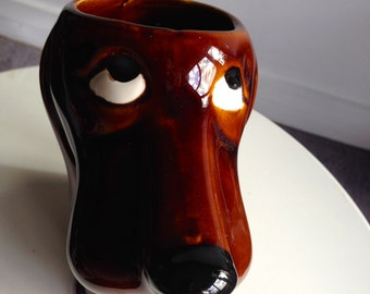 Dachshund dog pitcher