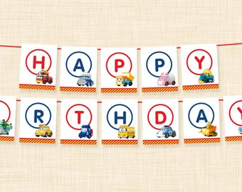 Robocar Poli Happy Birthday Banner {Printable Digital File • Instant Download}
