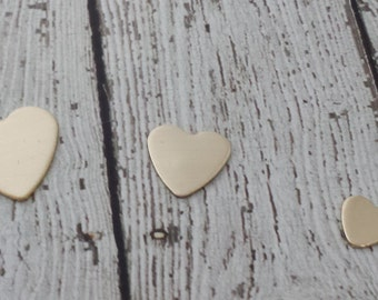 20 Gauge Nu Gold Heart Stamping Blank - 15mm Heart Stamping Blank