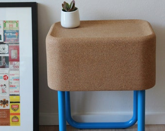 Alfy Side Table: Made from Cork and Aluminium