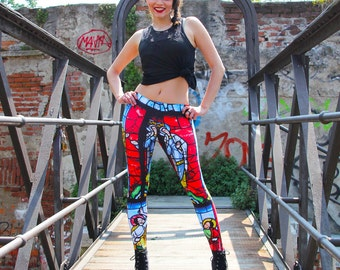 Papinto Holy Glass printed leggings