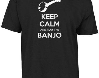 Keep calm and play the banjo t-shirt