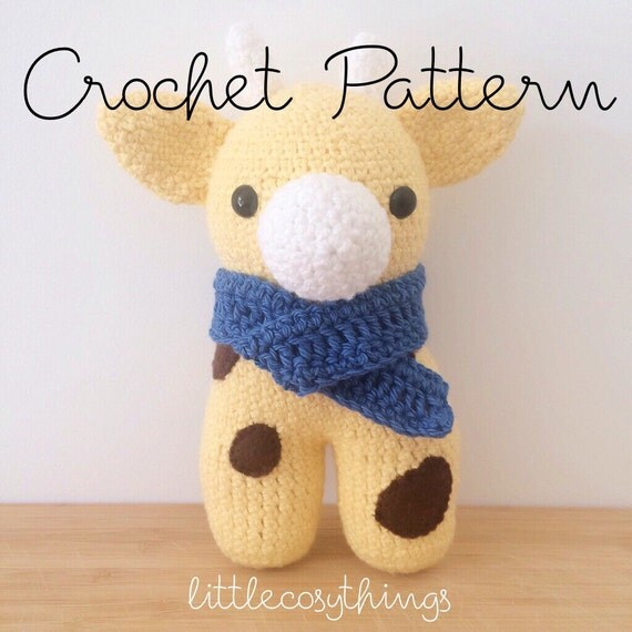 Giraffe George Amigurumi : Crochet Pattern Amigurumi Pattern George the Giraffe by