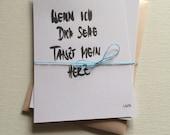 4 x LOVE Postkarten mit Umschlag / handgefertigt