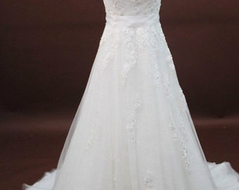 Lace A-line Wedding Dress with Sash