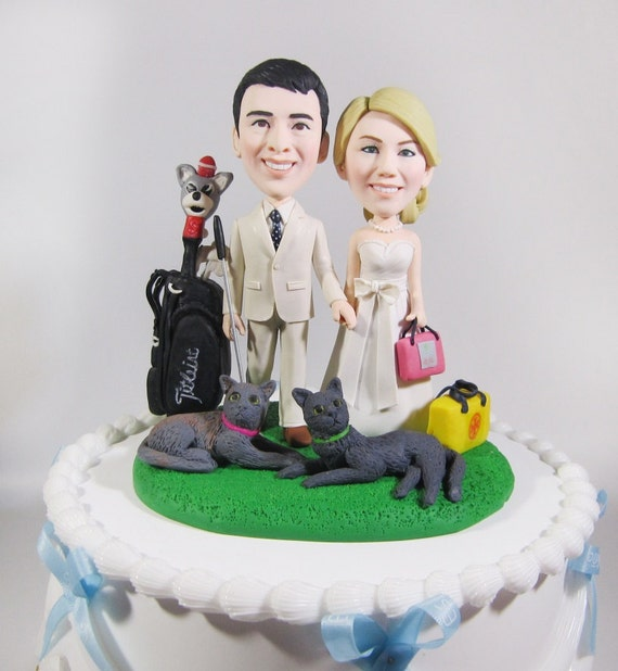 personalized cartoon wedding cake toppers wedding cake topper personalized toppers golf 18261