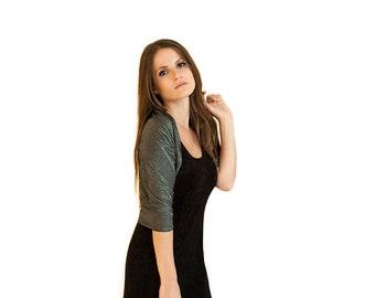 Plus Size Black Glittering Shawl Shrug With 4 Wearing Options- Shawl, Shrug, Crisscross Or Scarf. Glittering Shiny Cover Up Large Size GT101