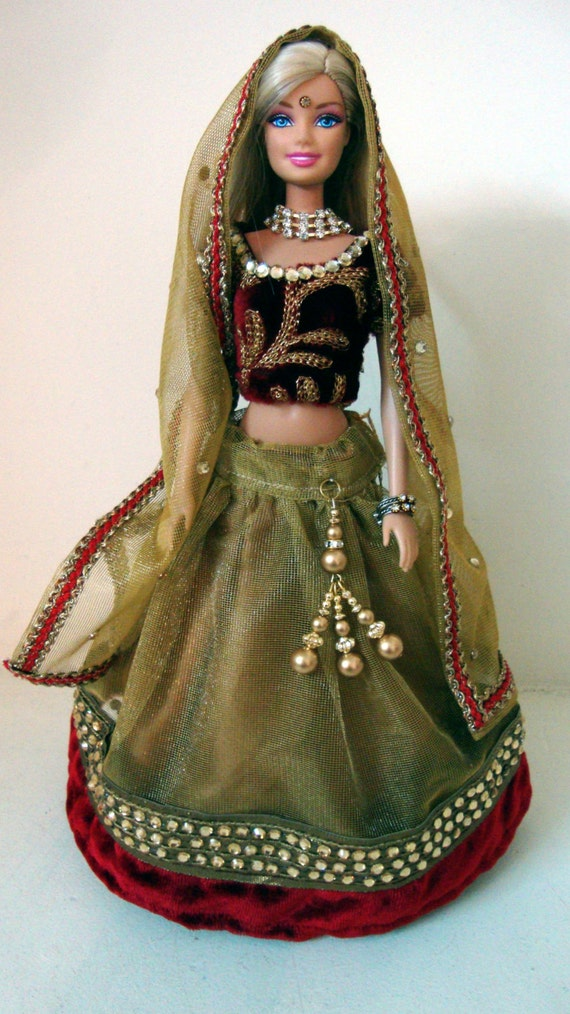 Barbie in Indian Wedding Dress Indian Wedding Doll Dress