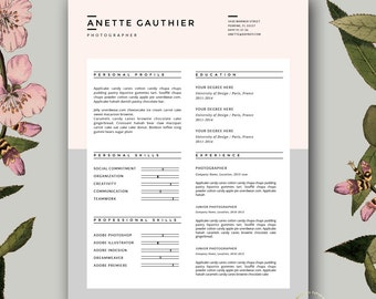 fashion resume etsy - Fashion Design Resume Template