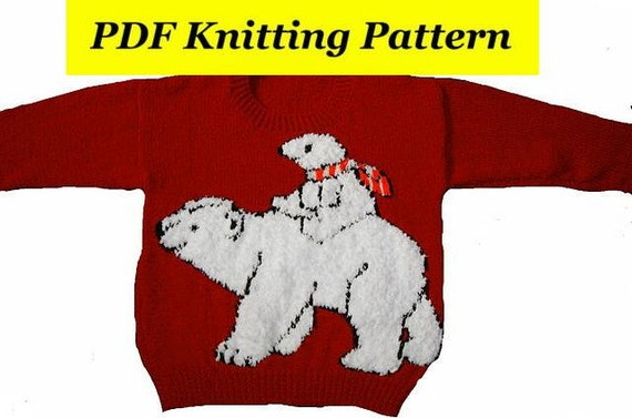 Childrens & Adults Christmas Polar Bear And Baby Jumper