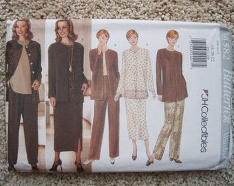 UNCUT Misses / Misses Petite Jacket, Top, Skirt and Pants - Butterick Pattern 4582