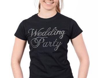 Wedding Party Rhinestone T-Shirt