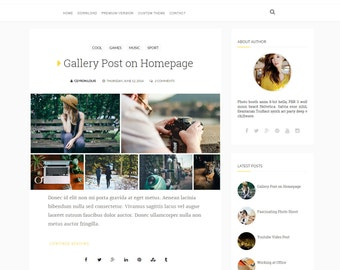 SALE Charm - Clean Blogger Template