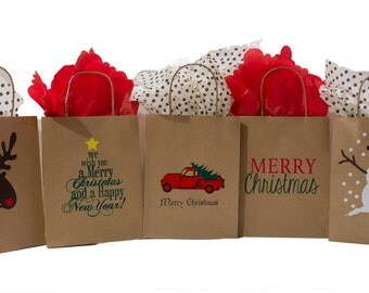 Christmas Collection, including (5) 8x10 Gift Bags