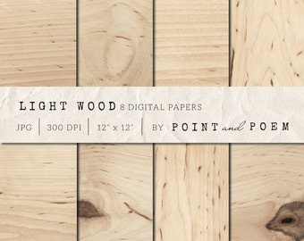 Wood Digital Paper, light wood background, country wedding, rustic, scrapbooking, blog, distressed wood grain, cottage - Commercial Use