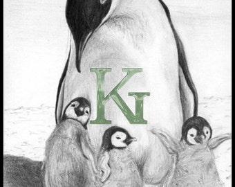 """KG Cards """"Penguins"""" Greeting Card"""
