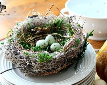 "Bird Nest - ""Spring"" Natural Farm Bird Nest"