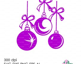 Sale 50% Christmas Ball SVG (300 dpi svg, dxf, ai, eps, png) Clip Art 3D Cutting elements Xmas Noel Die Cut Silhouette Cameo EasyCutPrintPD