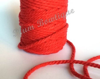 Red 5mm Chunky Cotton Bakers Twine by James Lever x 1mtr